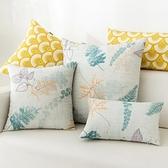 田園風抱枕家用沙發靠墊簡約現代靠背正方形枕套含芯大號