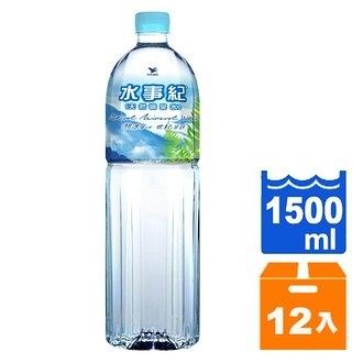 統一水事紀 天然礦泉水 1500ml (12入)/箱 隨機【康鄰超市】