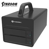 STARDOM DR2-TB3-B 3.5吋硬碟 Thunderbolt3 2bay 磁碟陣列硬碟外接盒