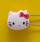 【震撼精品百貨】Hello Kitty 凱蒂貓~KITTY掀開式安全別針-大頭造型-桃#76636