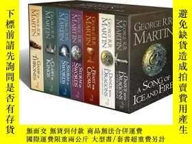 二手書博民逛書店冰與火之歌罕見英文原版小說 權力的遊戲7本盒裝全套 A Song