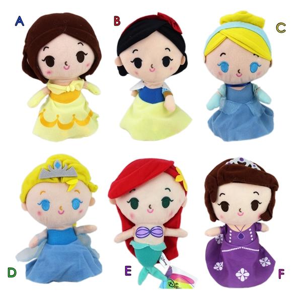【卡漫城】 公主 絨毛玩偶 20cm 6選一 ㊣版 擺飾 娃娃布偶 灰姑娘 仙杜瑞拉 冰雪奇緣 Frozen 艾莎 L2