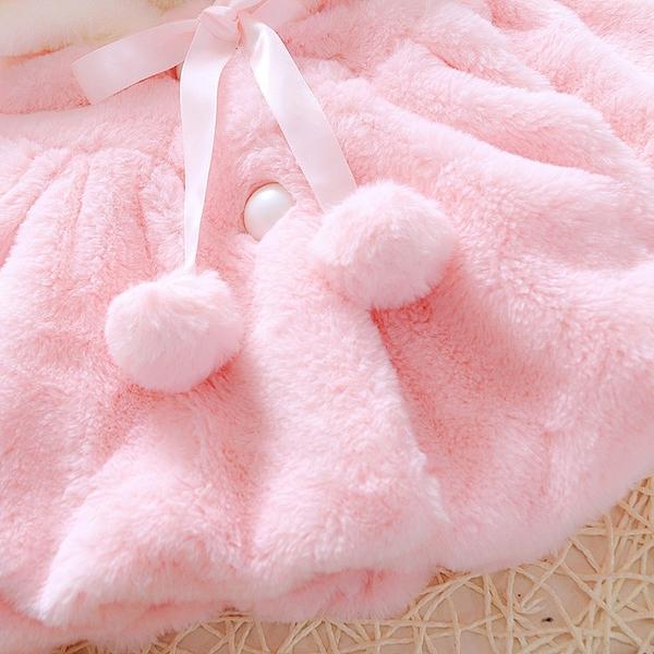 限定款鋪棉厚外套 寶寶刷毛外套女0一1歲嬰兒開衫女童內刷毛披風時尚正韓潮公主春秋款童裝