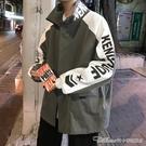 『快出』夾克夾克男士秋冬季寬鬆上衣潮流痞帥炸街外套加厚棉襖工裝潮牌棒球服 阿卡娜
