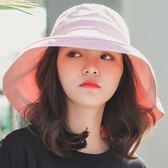 漁夫帽 帽子女夏大沿大檐防曬防紫外線戶外出游百搭太陽遮臉遮陽帽