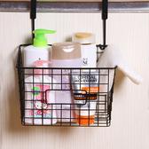 收納籃 置物籃 掛籃 日式鐵藝家居 可抽式 門背式 櫥櫃 調味料架 掛式抽口收納籃【Q253】慢思行