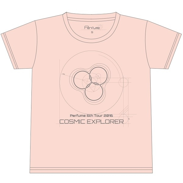 Perfume 6th Tour 2016「COSMIC EXPLORER」- Logo T恤<波斯菊粉紅>