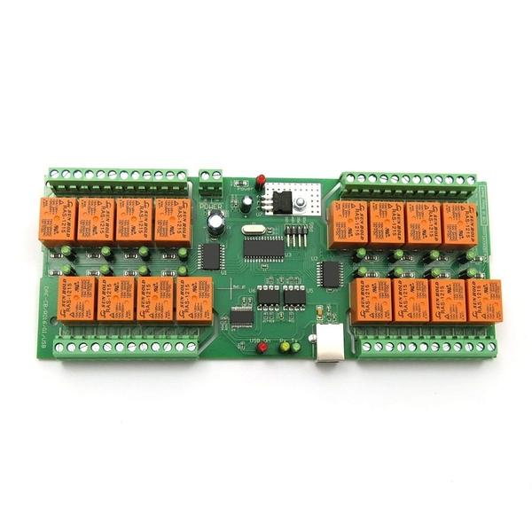 [2美國直購] USB 16 Channel Relay Board for Automation - Virtual COM (Serial) Port DAE-CB/Ro16-12V-USB-PCB