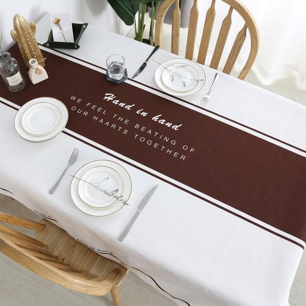 時尚可愛空間防水餐桌布 茶几布 隔熱墊 鍋墊 杯墊 餐桌巾 605 (100*140cm)