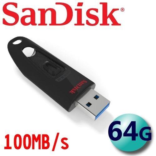 全新 SanDisk Ultra CZ48 64G 100MB/s USB3.0 下推式 隨身碟