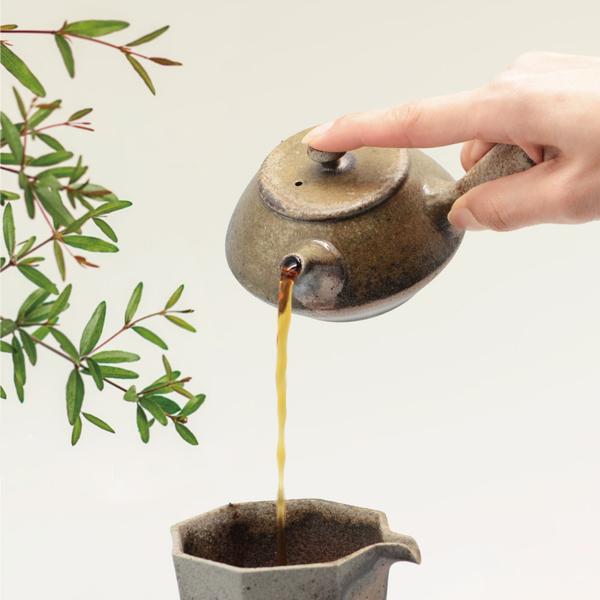 陸寶茶器 鎏光霞彩柴燒茶組 精緻臻品 典藏木盒