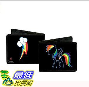 [106美國直購] 彩虹小馬皮夾 Buckle-Down Wallet Rainbow Dash Outline Accessory
