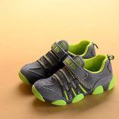 男童鞋款真皮童鞋小童網面透氣兒童運動鞋男跑步鞋單網鞋【跨年交換禮物降價】