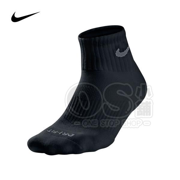 (特價) Nike 短襪 SX4906-001 黑色 DRI-FIT運動襪 中筒襪
