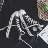 帆布鞋  透氣新款高幫帆布鞋男鞋韓版百搭潮鞋2019春季布鞋情侶休閒板鞋子