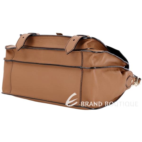 PROENZA SCHOULER HAVA 中型金釦小牛皮兩用包(棕色) 1840001-B3