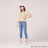 【GIORDANO】 女裝刷色中腰直筒九分牛仔褲-77 淺藍