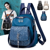 後背包-牛津布雙肩包女2021新款韓版時尚百搭包包大容量休閒背包學生書包