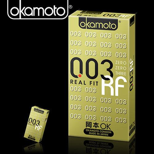 保險套 避孕套 衛生套 情趣用品 岡本003-RF極薄貼身 衛生套6入 +潤滑液2包