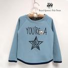 星星圖案藍色兒童連袖刷毛厚棉T RQ P...