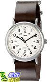 [105美國直購] Timex Unisex T2N893 Weekender Silver-Tone Watch with Leather Band