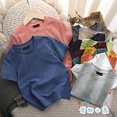 男童短袖t恤日系純棉寶寶素色T恤兒童夏半袖【奇趣小屋】