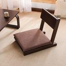 日式榻榻米靠背椅實木無腿小戶型陽臺飄窗椅子家用單人和室矮座椅 小山好物
