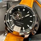 Giorgio Fedon 1919喬治飛登男錶46mm黑色錶面黃錶帶