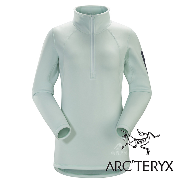 【Arc'teryx 始祖鳥】女 Rho AR 內層刷毛套頭排汗保暖衣『露珠藍』L06902