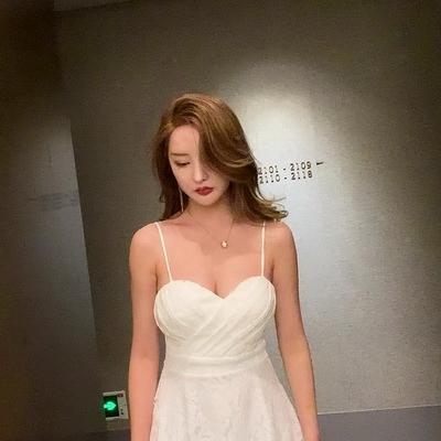 (下殺)夜店女裝顯瘦a字裙酒吧ktv夜場裙子低胸V領吊帶性感連身裙【08SG06255】