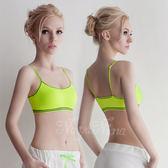 居家服內睡衣 細肩帶背心 運動內衣褲 S-XL(螢光綠) 《SV5899》HappyLife