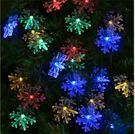 雪星彩色 太陽能led燈串  露營裝飾 兒童房 帳篷 PARTY 聖誕節 聚會布置用品 橘魔法Baby magic 現貨