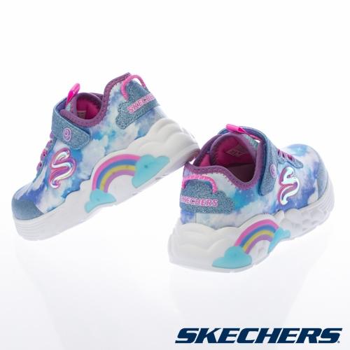 (C1) SKECHERS 女童鞋系列 RAINBOW RACER 燈鞋 炫彩燈鞋 中大童 彩虹 302300LBLU [陽光樂活]