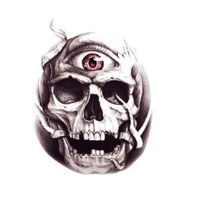 骷髏頭 紋身貼 刺青 防水 仿真 男女通用 現貨 多款 手臂 肩膀 紋身貼 纹身 紋身貼紙 8040