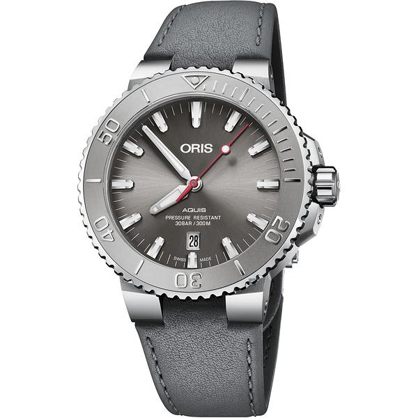 ORIS 豪利時 Aquis Relief 日期潛水機械錶-43.5mm 0173377304153-0752411EB