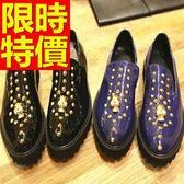 男皮鞋-穿脫方便時尚休閒懶人男樂福鞋2色59p27[巴黎精品]
