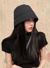 假髮帽子女韓版潮春夏百搭水桶帽長直髮一體時尚網紅帶頭髮漁夫帽 伊蘿