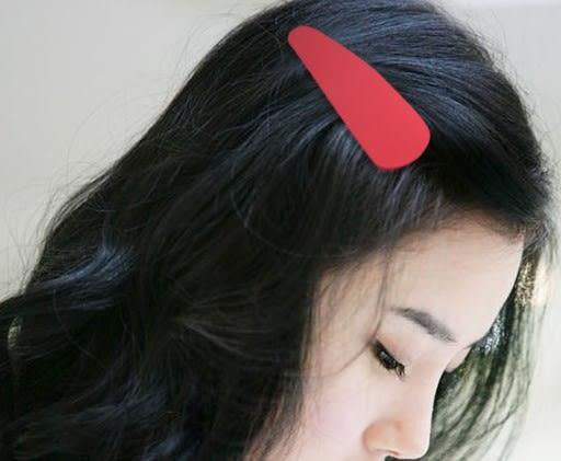 [協貿國際] 韓版飾品髮夾純色磨砂超大BB夾 (10個價)
