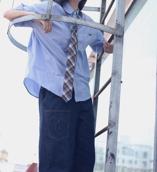old pumpkin   日系 學生  學院 工裝 休閒 學生 格子領帶     米娜小鋪