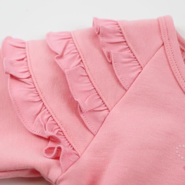 【愛的世界】彈性荷葉邊洋裝長袖上衣/2~3歲-台灣製- ★秋冬上著