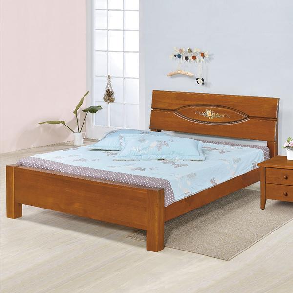 【采桔家居】 珊妮 時尚6尺實木雙人加大床台(不含床墊&不含床頭櫃)