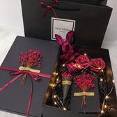 少女禮品盒創意男生高檔長方形盒子禮盒簡約包裝盒禮物黑 概念3C旗艦店