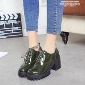 紳士鞋2019秋冬季新款英倫風少女小皮鞋女士鞋子中跟粗跟高跟鞋學生單鞋 【新品推薦】