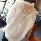 【雙11折300】寬鬆大碼雪紡襯衣胖mm上衣