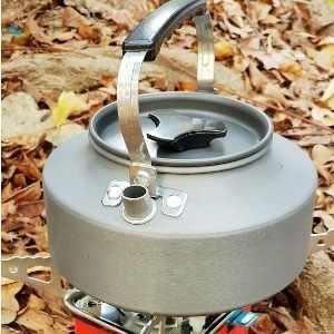 ♥巨安網購♥【107011805】野外茶壺野營鋁合金1.1L咖啡壺便攜開水壺