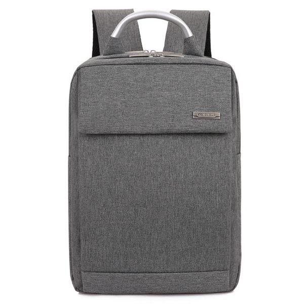 新款男士辦公筆記本電腦包中學生背包防水雙肩包15.6寸電腦包【元氣少女】