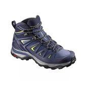 [Salomon] (女) ULTRA 3 GTX中筒登山鞋 藍/綠 (L40129600)