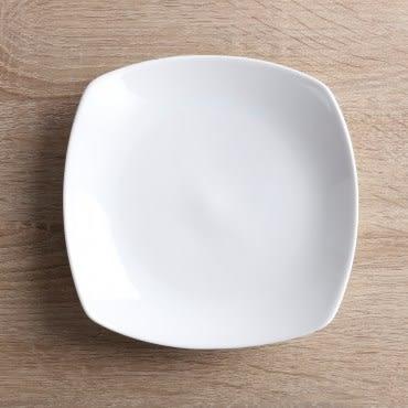 HOLA home 緻白骨瓷方湯盤15.5cm