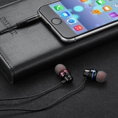 耳機入耳式耳機有線K歌手機重低音有線控適用蘋果安卓男女通用耳塞【全館免運八折下殺】