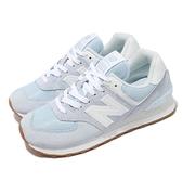 New Balance 休閒鞋 574 藍 白 膠底 復古 女鞋 運動鞋 NB 經典款【ACS】 WL574PE2-B